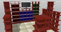 书店室内的SKP模型素材设计