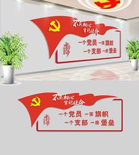 社区党员活动室党建文化墙设计