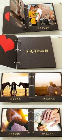 婚礼翻页相册视频模板