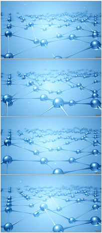 3d晶体分子结构视频素材