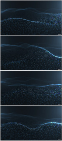 粒子波浪起伏背景视频素材