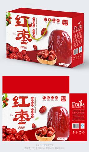 红枣礼盒包装设计
