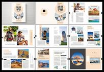 简约小清新旅游宣传手册