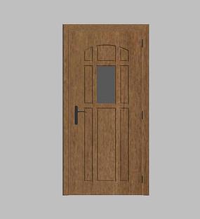 木质简约门模型