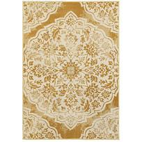 土黄色图腾元素地毯