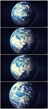 地球俯冲穿梭地面视频