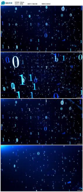 闪烁数字变化背景视频
