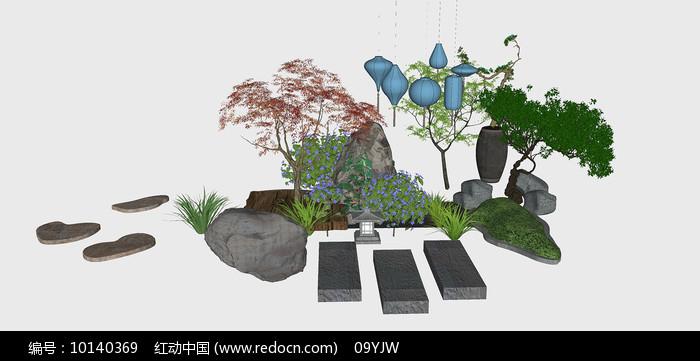 日式庭院园艺SU模型