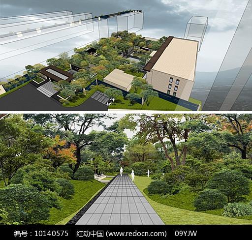 中式庭院景观SU
