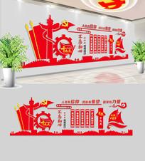社区党员活动室党建文化墙布置