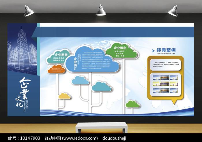 经典企业文化墙展板图片