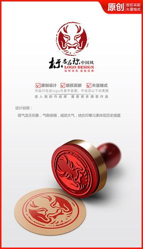 霸气龙王logo设计商标