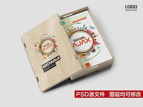 木盒包装盒样机效果图