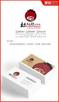水墨飞龙logo设计商标