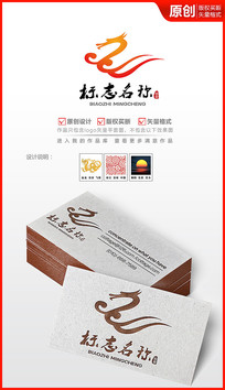 祥云飞龙logo设计商标设计