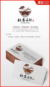 中国风祥云大碗logo设计