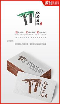 文雅绿竹子logo设计
