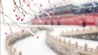 雪落下的声音背景视频素材