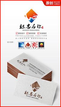中国风海浪logo设计