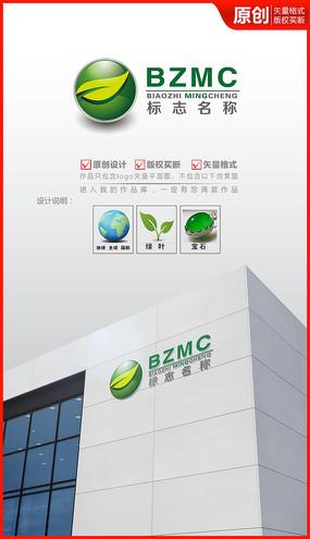 绿叶科技logo设计商标设计