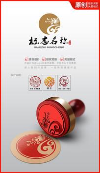 祥云龙logo设计商标设计
