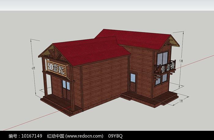 5D电影院SU模型小木屋图片