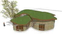 草顶木质建筑