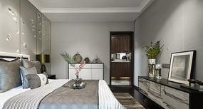 浅色新中式卧室设计 JPG