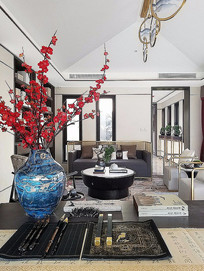 中国元素客厅设计意向