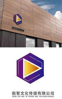 六边形传媒公司logo设计