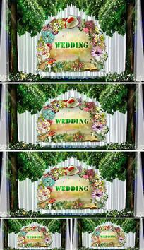 婚礼主题logo森系婚礼背景视频素材