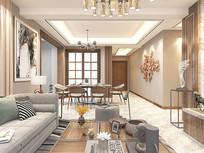 轻奢风格室内装修设计模型