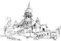 大师草图城堡手绘