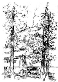 大师草图房子写生