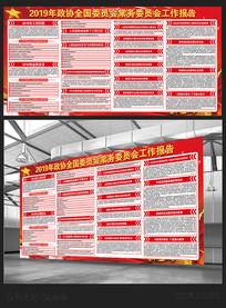 政协委员会工作报告展板