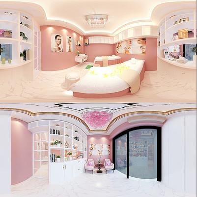 时尚温馨美容院设计3D模型