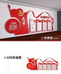 党员教室文化墙设计