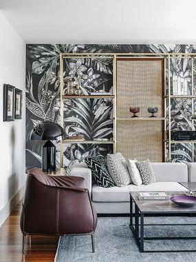 繁花似锦的客厅背景墙