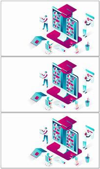 mg动画在线商店展示视频模板