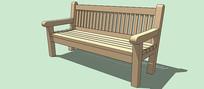 高背长椅SU模型