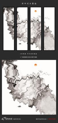 新中式水墨抽象画