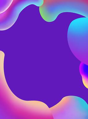 原创元素彩色手绘背景
