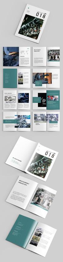 蓝绿色大气工业生产企业画册