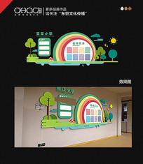 卡通创意校园文化墙