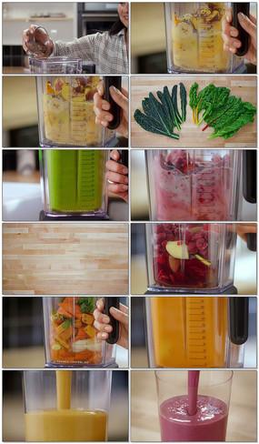 有机果蔬果汁榨取视频素材