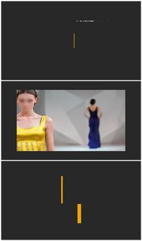 简洁字幕条AE视频模板