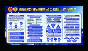 解读2019全国两会政府报告展板