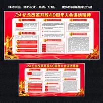 庆祝中国改革开放40周年展板