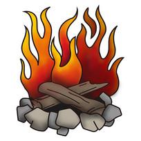 原创元素手绘红色火焰