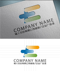 E字母LOGO标志设计